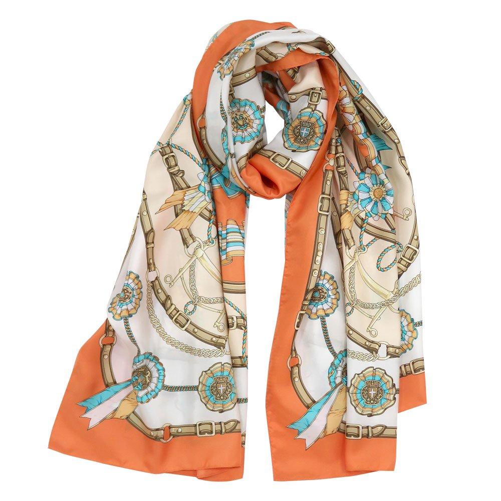 勲章とリボン ロング(CM4-082L) Marcaオリジナル 大判 シルクツイル スカーフの画像7