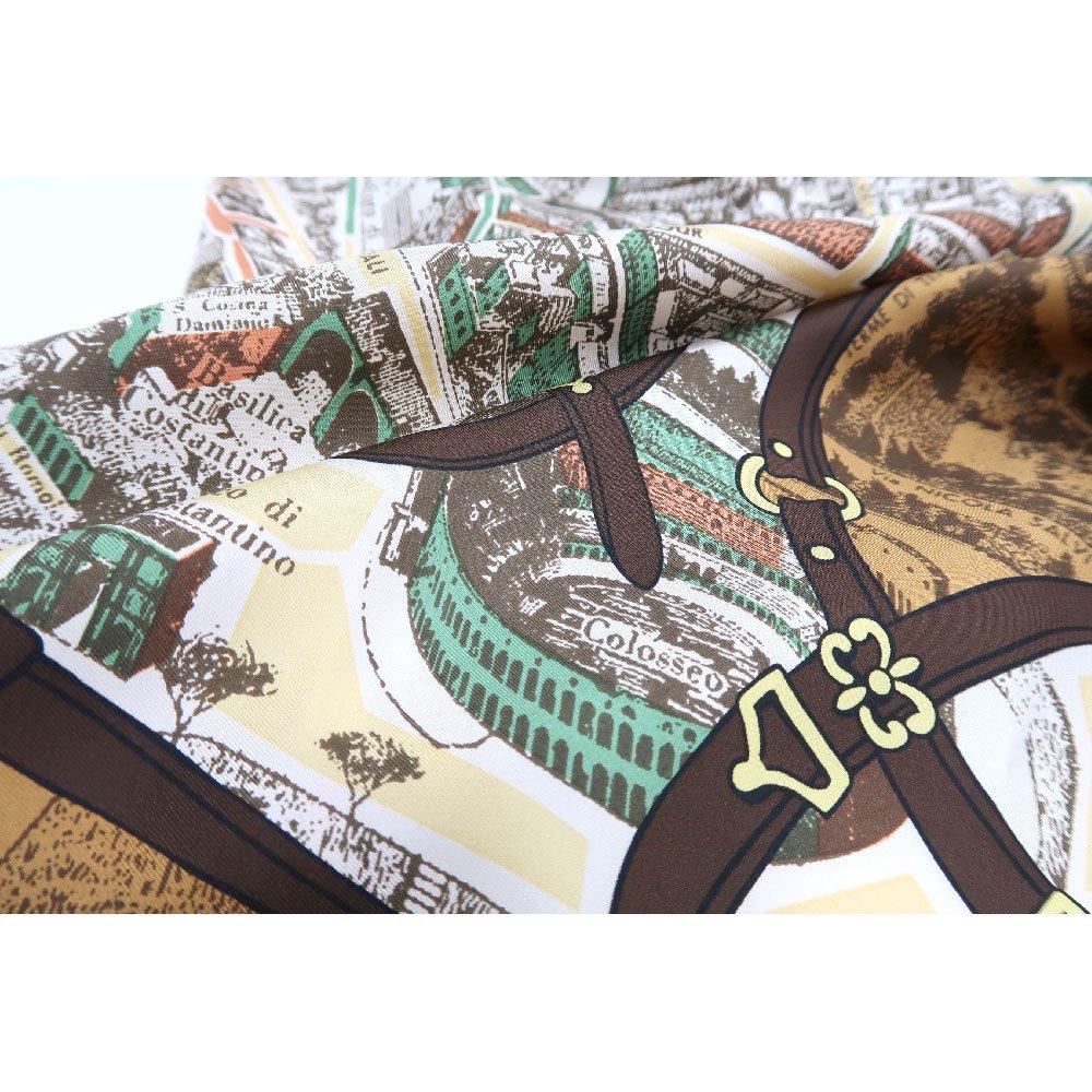 アンティークマップ (CHQ-094) Marcaオリジナル 大判  シルクツイル スカーフの画像10