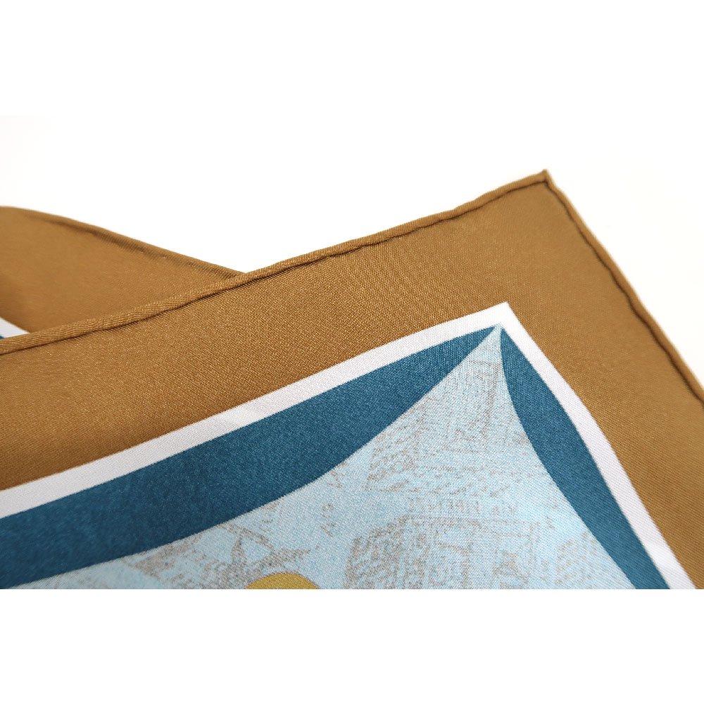 アンティークマップ (CHQ-094) Marcaオリジナル 大判  シルクツイル スカーフの画像6
