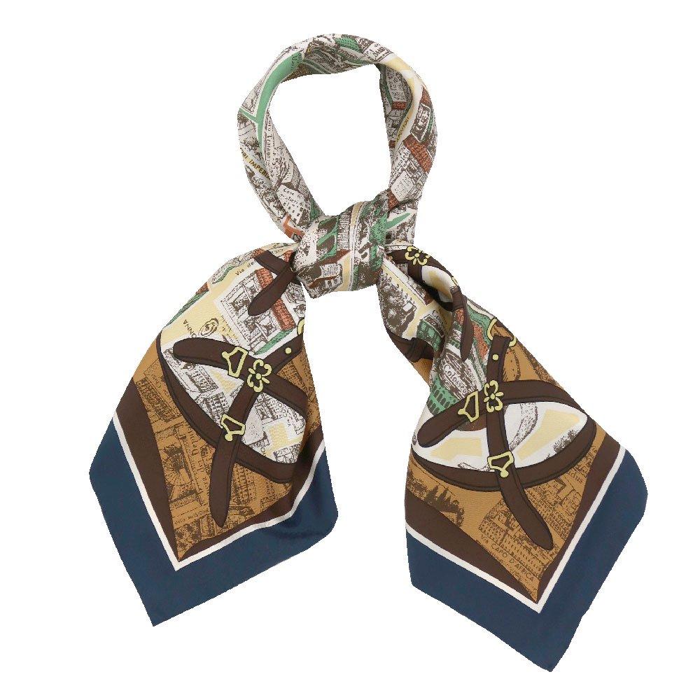 アンティークマップ (CHQ-094) Marcaオリジナル 大判  シルクツイル スカーフの画像9