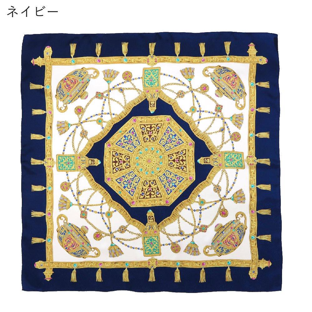 飾り壷(CM4-337) Marcaオリジナル 大判 シルクペイズリージャカード スカーフの画像1