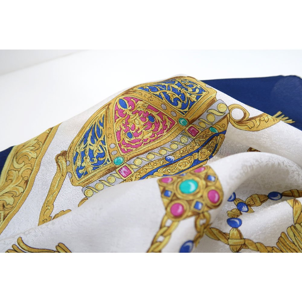 飾り壷(CM4-337) Marcaオリジナル 大判 シルクペイズリージャカード スカーフの画像2