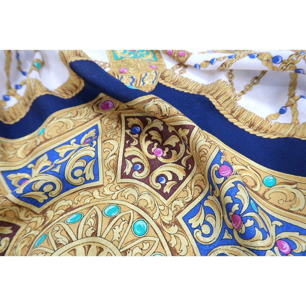 飾り壷(CM4-337) Marcaオリジナル 大判 シルクペイズリージャカード スカーフの画像3