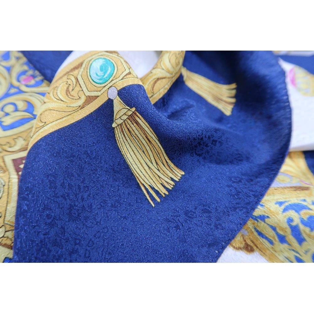 飾り壷(CM4-337) Marcaオリジナル 大判 シルクペイズリージャカード スカーフの画像5