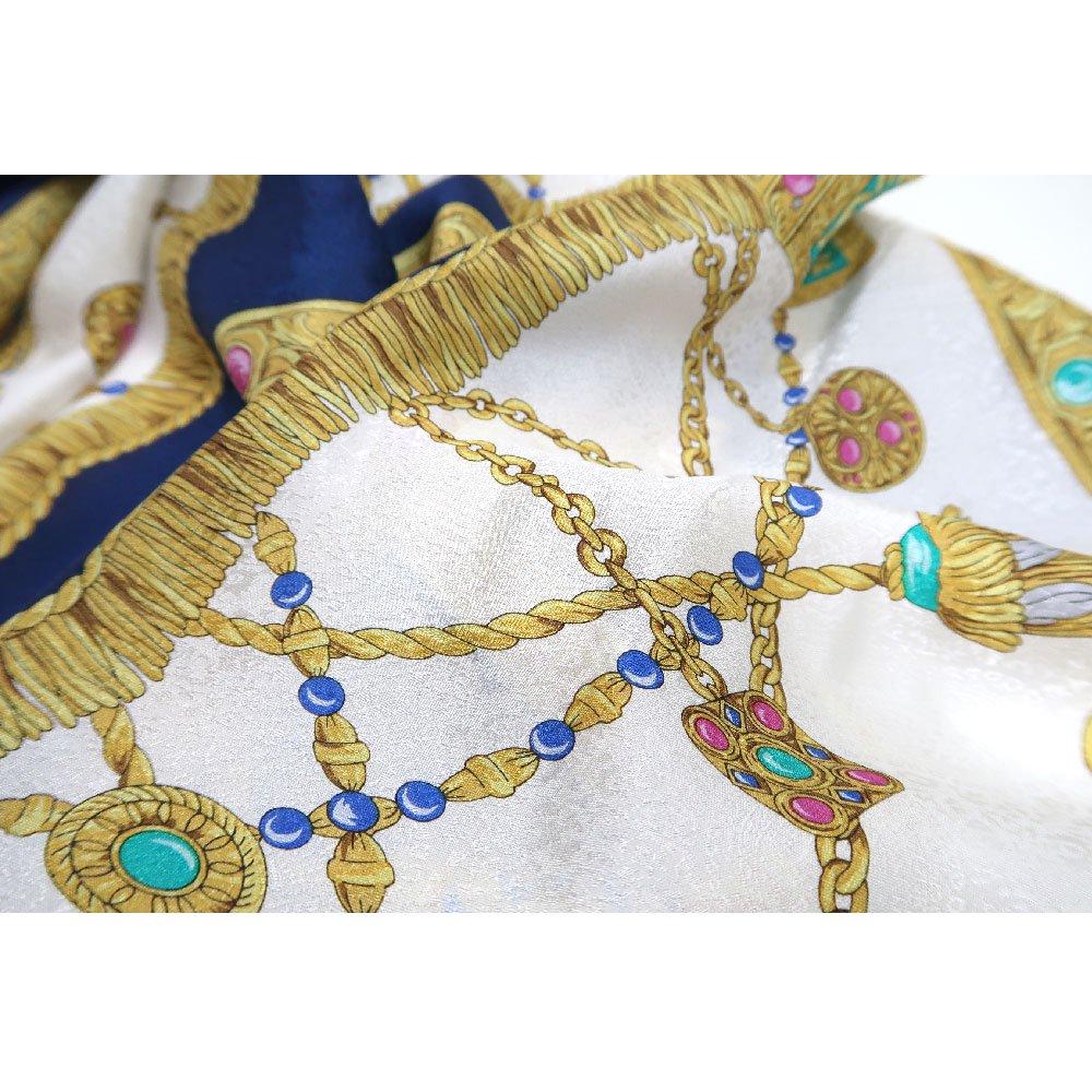 飾り壷(CM4-337) Marcaオリジナル 大判 シルクペイズリージャカード スカーフの画像6