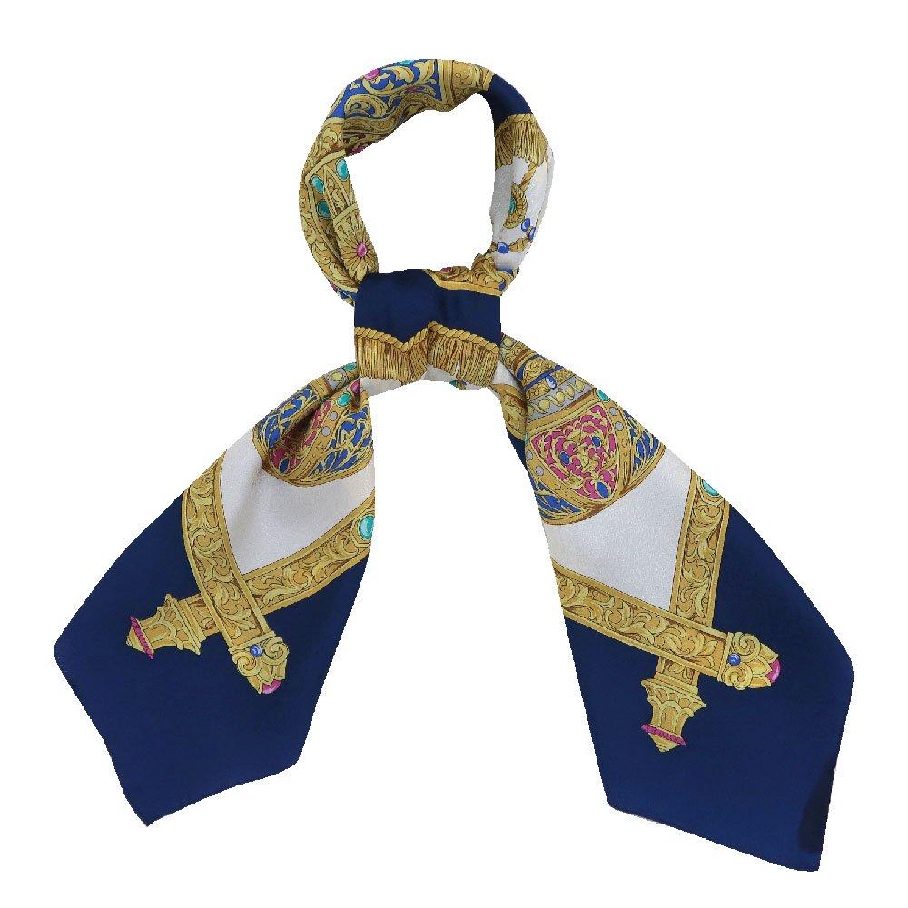 飾り壷(CM4-337) Marcaオリジナル 大判 シルクペイズリージャカード スカーフの画像7
