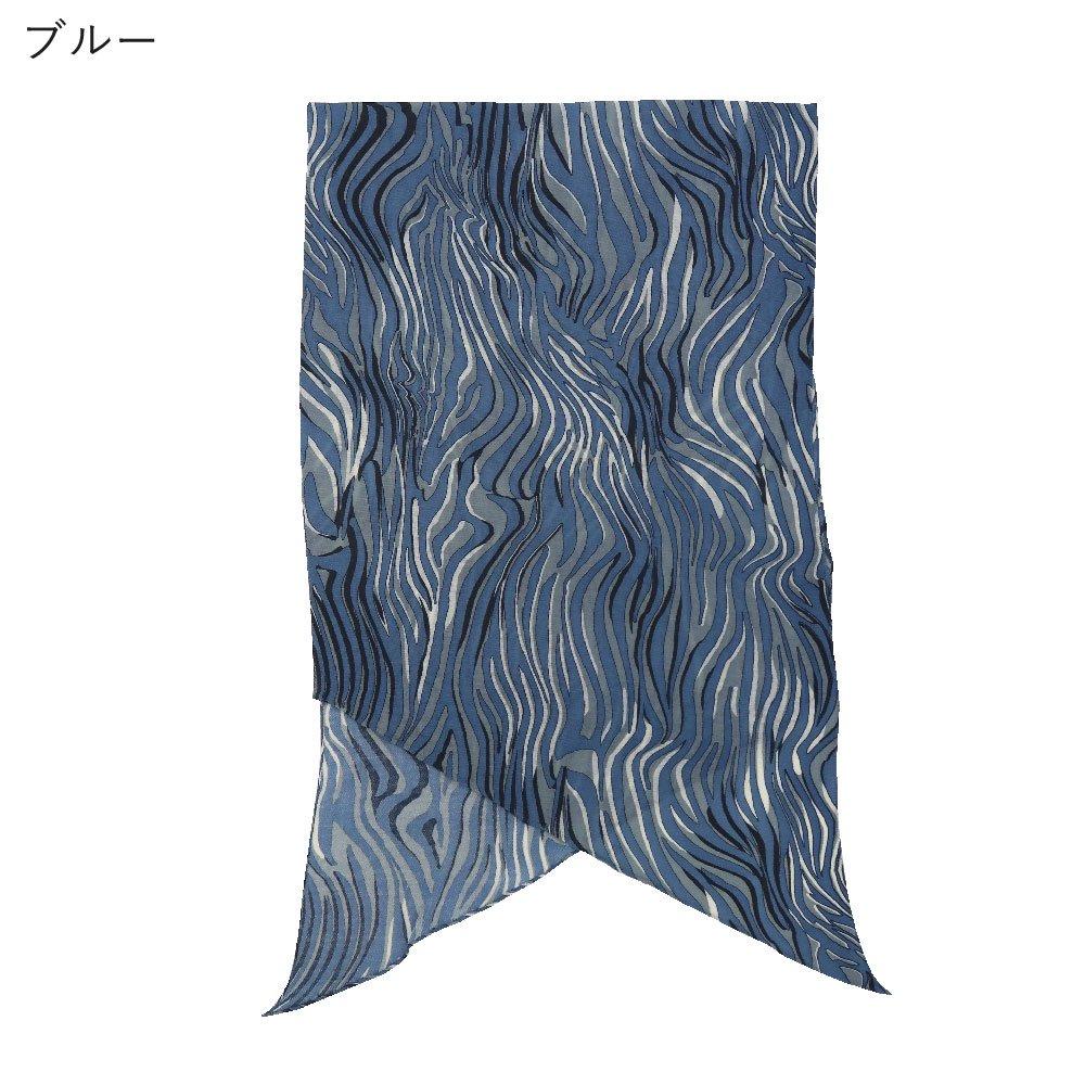 ゼブラ (IAM-007) Marcaオリジナル ウール 剣先スカーフの画像4