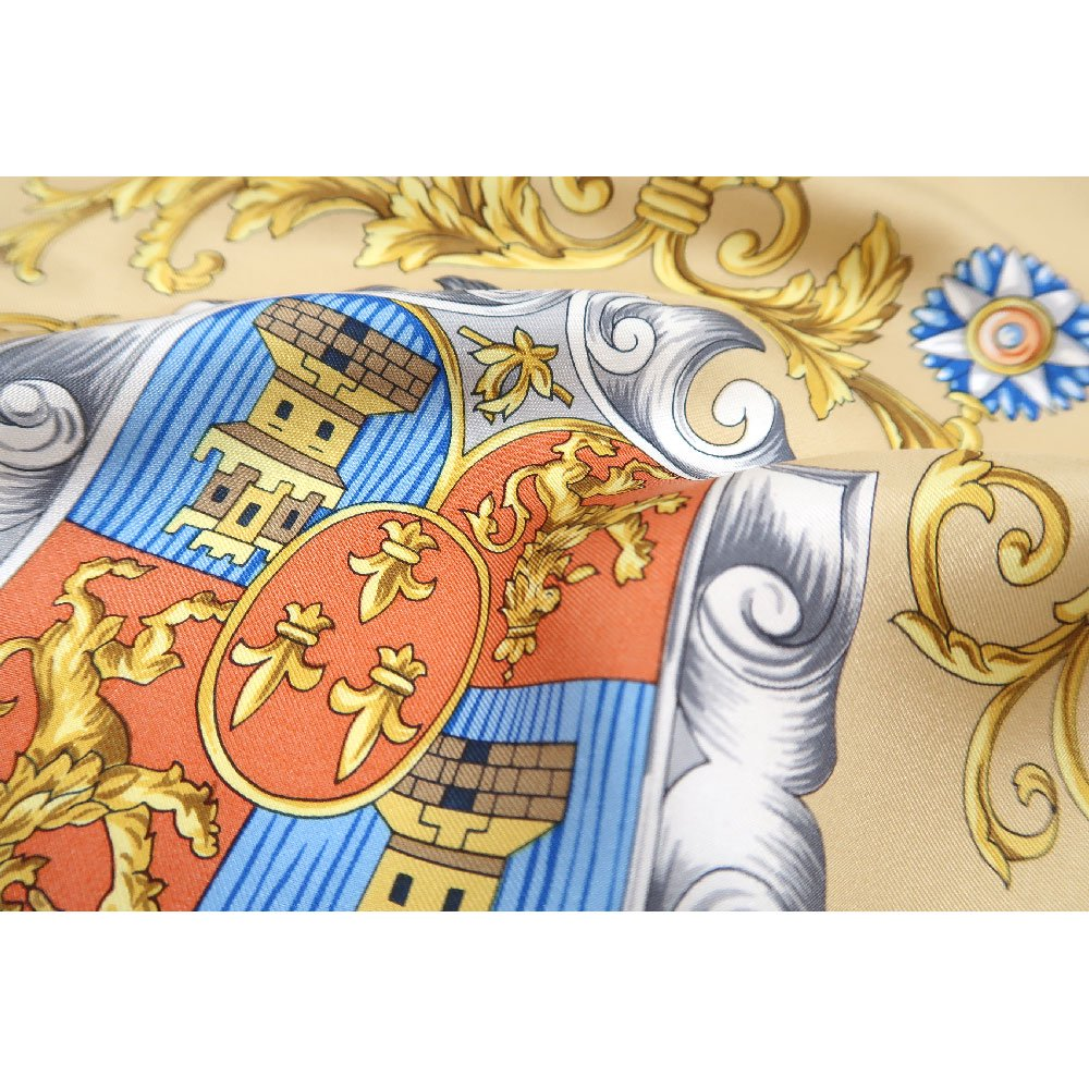 クツワと鞍(CM4-083) Marcaオリジナル 大判  シルクツイル スカーフの画像10