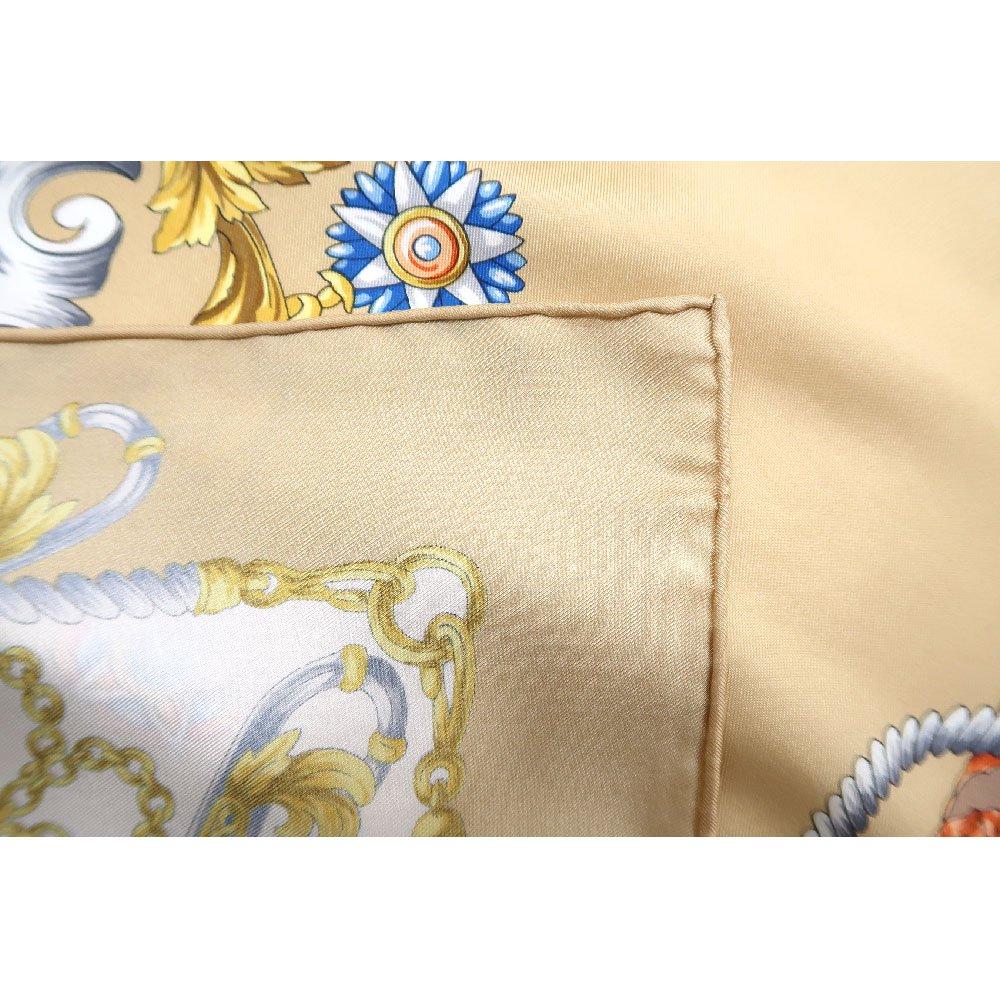 クツワと鞍(CM4-083) Marcaオリジナル 大判  シルクツイル スカーフの画像12