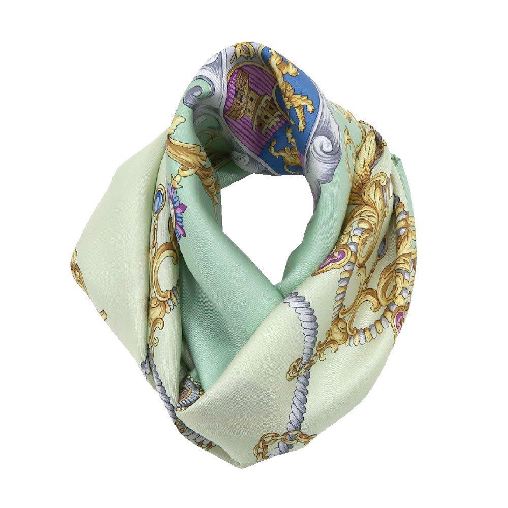 クツワと鞍(CM4-083) Marcaオリジナル 大判  シルクツイル スカーフの画像3