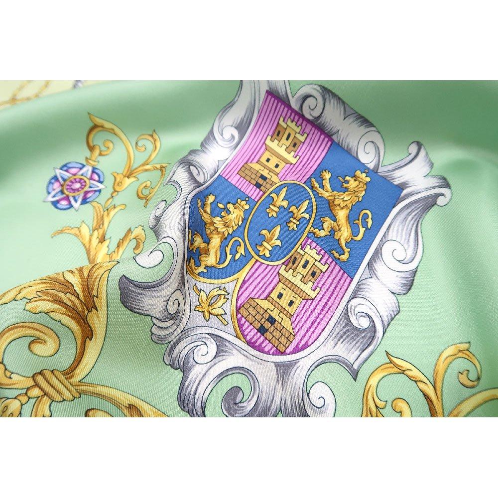 クツワと鞍(CM4-083) Marcaオリジナル 大判  シルクツイル スカーフの画像4