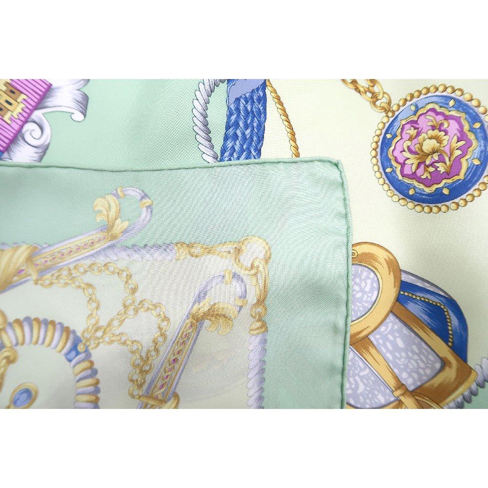 クツワと鞍(CM4-083) Marcaオリジナル 大判  シルクツイル スカーフの画像5