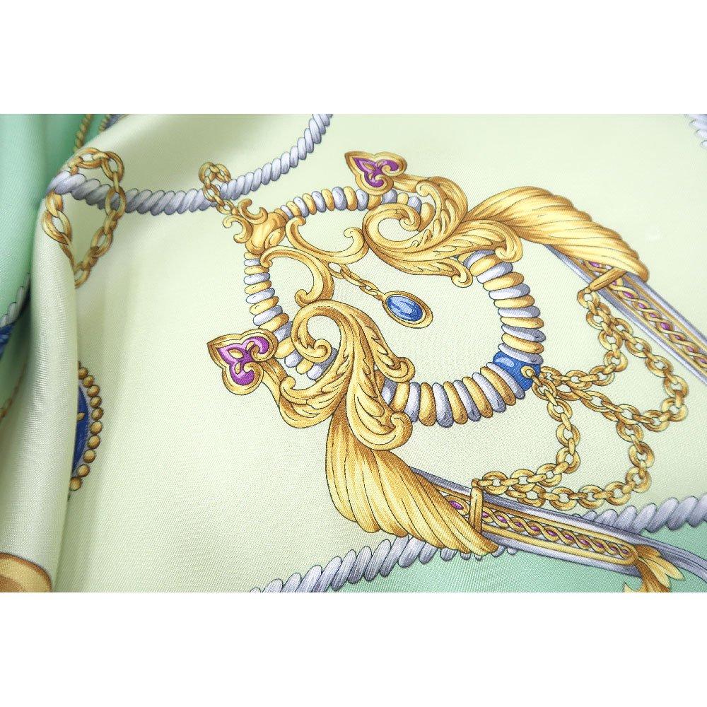 クツワと鞍(CM4-083) Marcaオリジナル 大判  シルクツイル スカーフの画像6