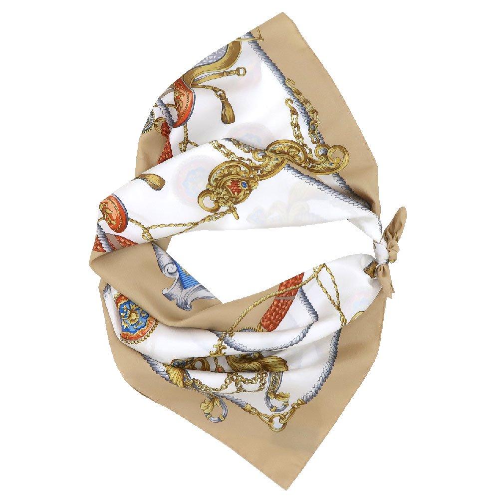 クツワと鞍(CM4-083) Marcaオリジナル 大判  シルクツイル スカーフの画像9