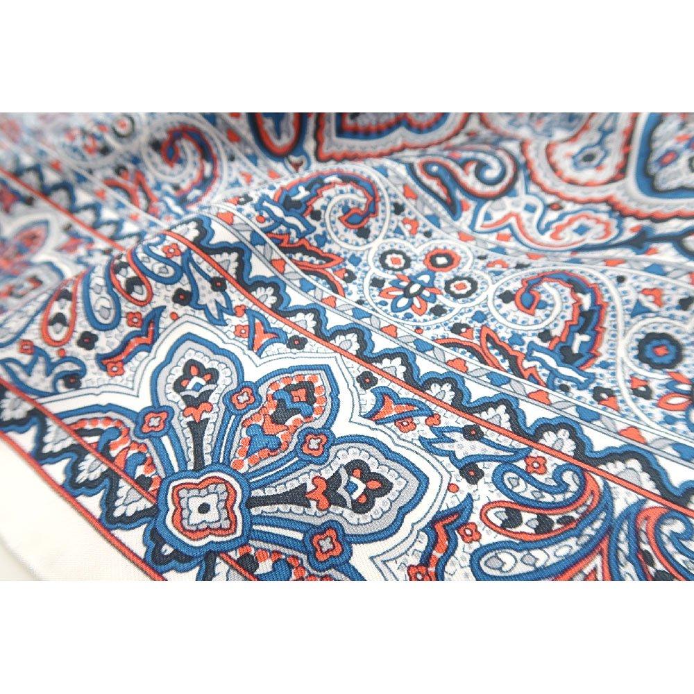 カシミール26(CM4-326) Marcaオリジナル 大判  シルクツイル スカーフの画像11