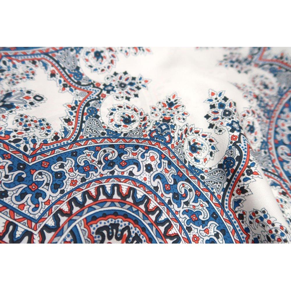 カシミール26(CM4-326) Marcaオリジナル 大判  シルクツイル スカーフの画像12