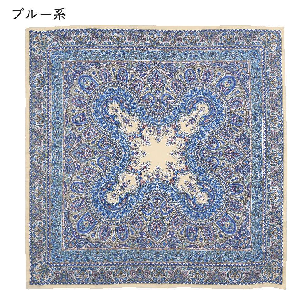 カシミール26(CM4-326) Marcaオリジナル 大判  シルクツイル スカーフの画像3