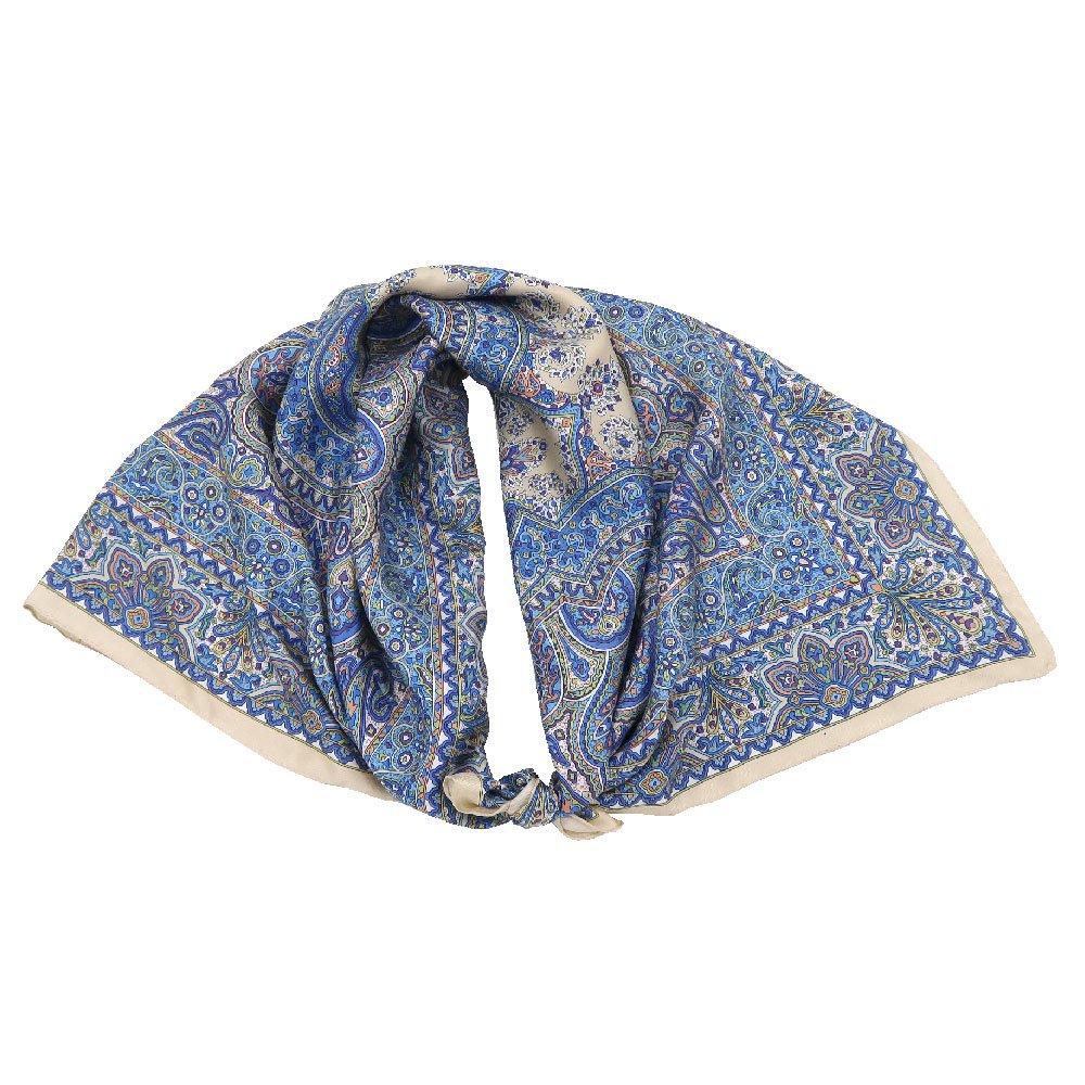 カシミール26(CM4-326) Marcaオリジナル 大判  シルクツイル スカーフの画像4