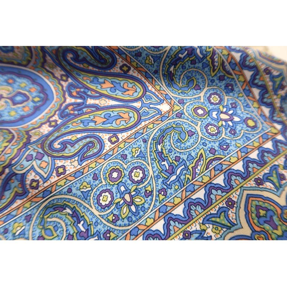 カシミール26(CM4-326) Marcaオリジナル 大判  シルクツイル スカーフの画像5
