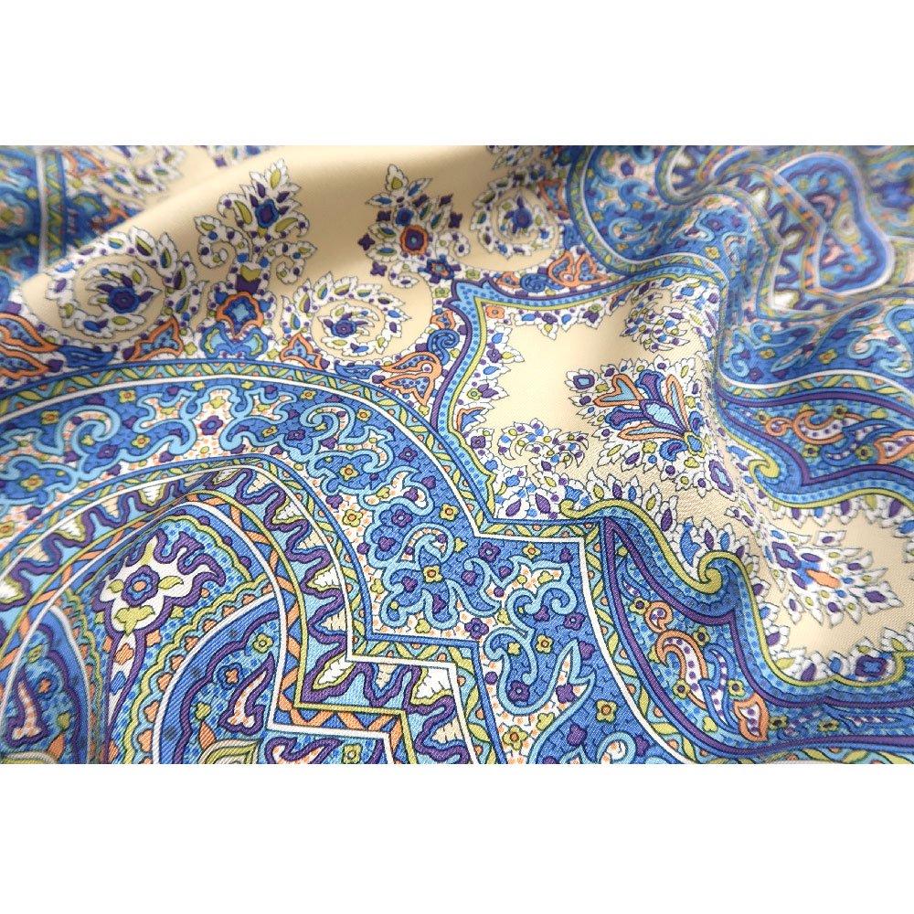 カシミール26(CM4-326) Marcaオリジナル 大判  シルクツイル スカーフの画像6