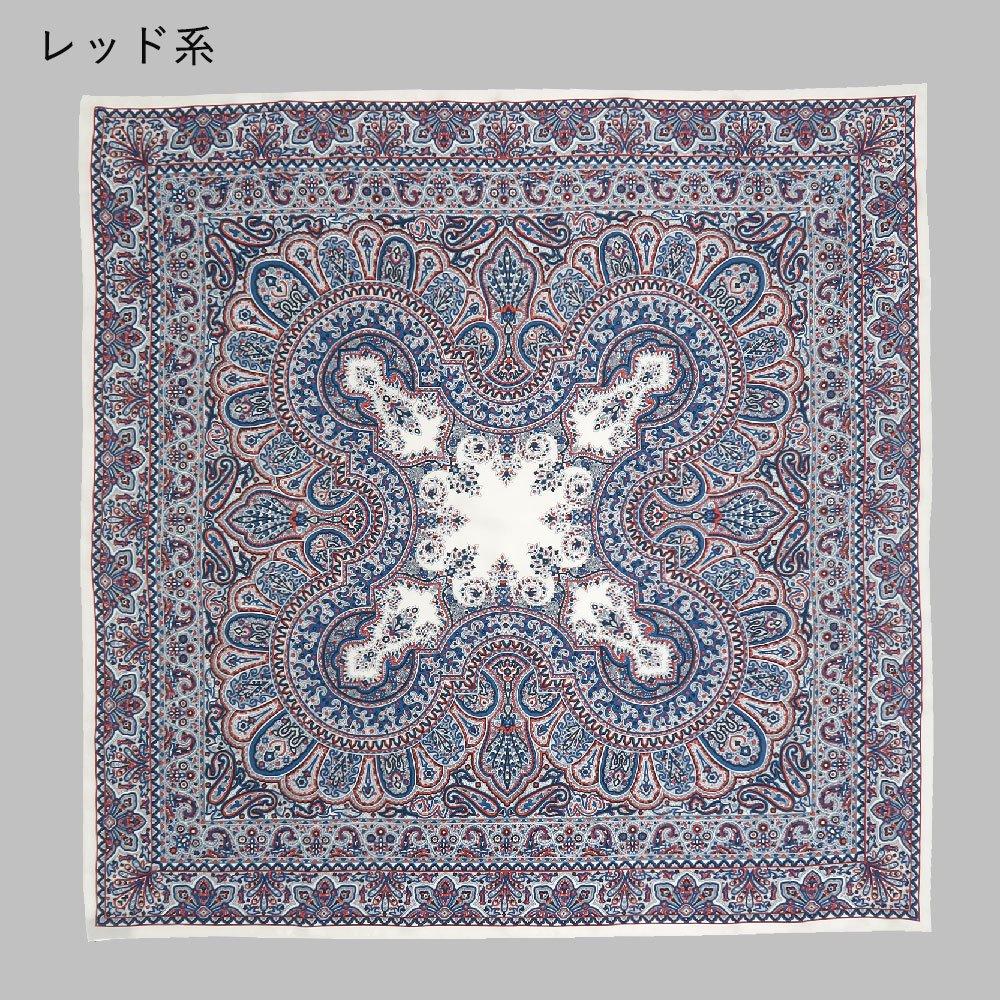 カシミール26(CM4-326) Marcaオリジナル 大判  シルクツイル スカーフの画像9