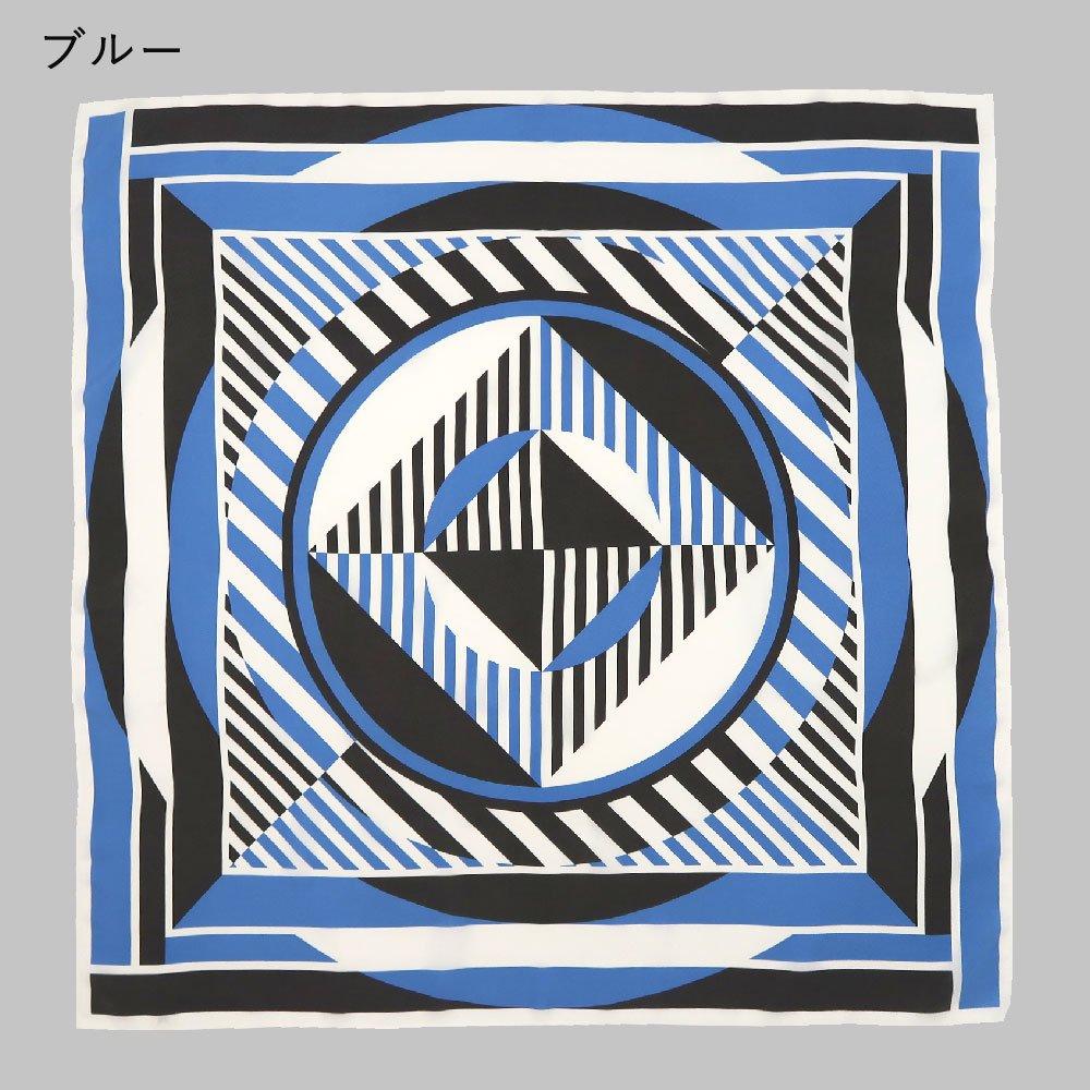 サークルストライプ(CGQ-013) Marcaオリジナル 大判  シルクツイル スカーフの画像5