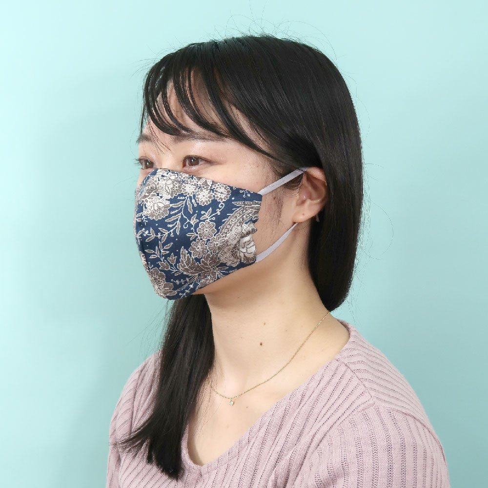 お肌にやさしいプリントマスク(U20-091) CD 小花柄/レース柄 Marcaオリジナル