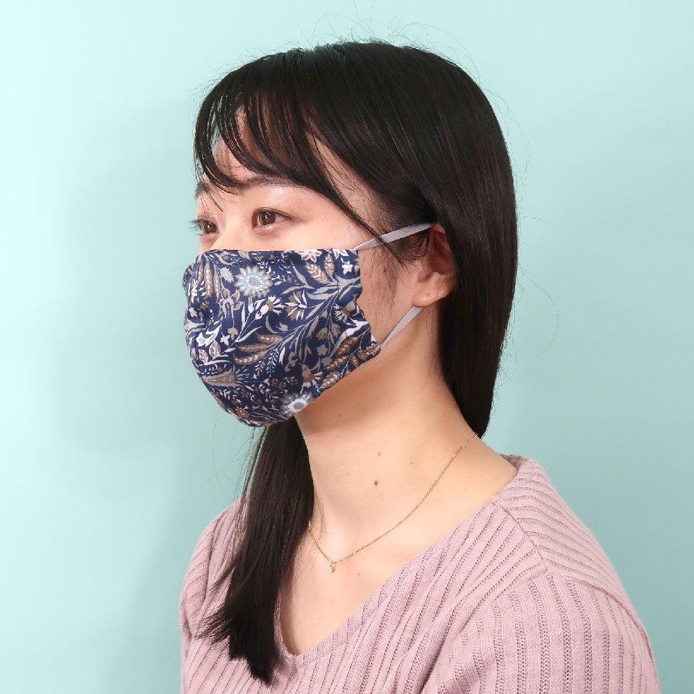 お肌にやさしいプリントマスク(U20-091) CD 小花柄/レース柄 Marcaオリジナルの画像3