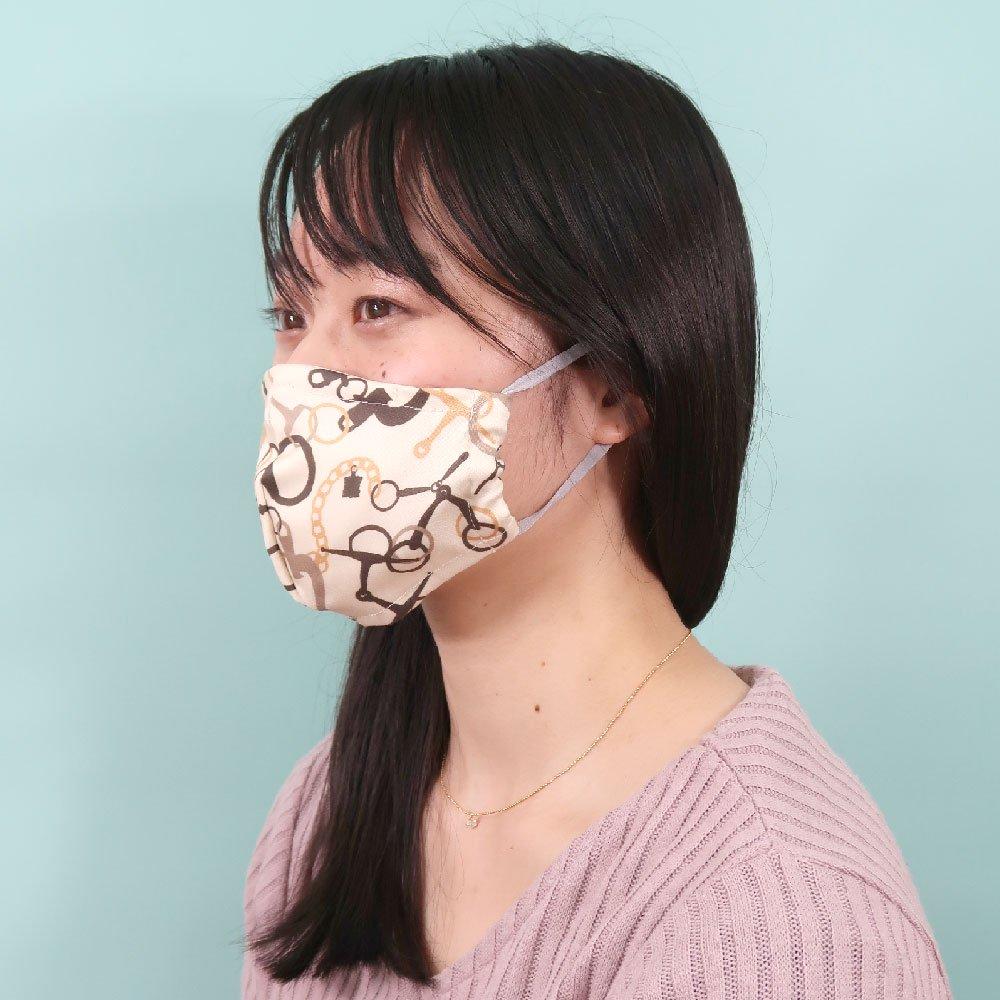 お肌にやさしいプリントマスク(U20-091) EF ビット柄 Marcaオリジナルの画像3