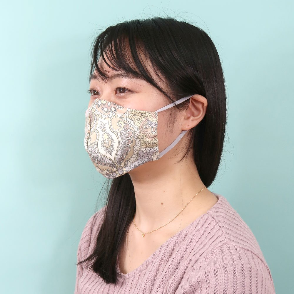 お肌にやさしいプリントマスク(U20-091) GH ペルシャ柄 Marcaオリジナルの画像3
