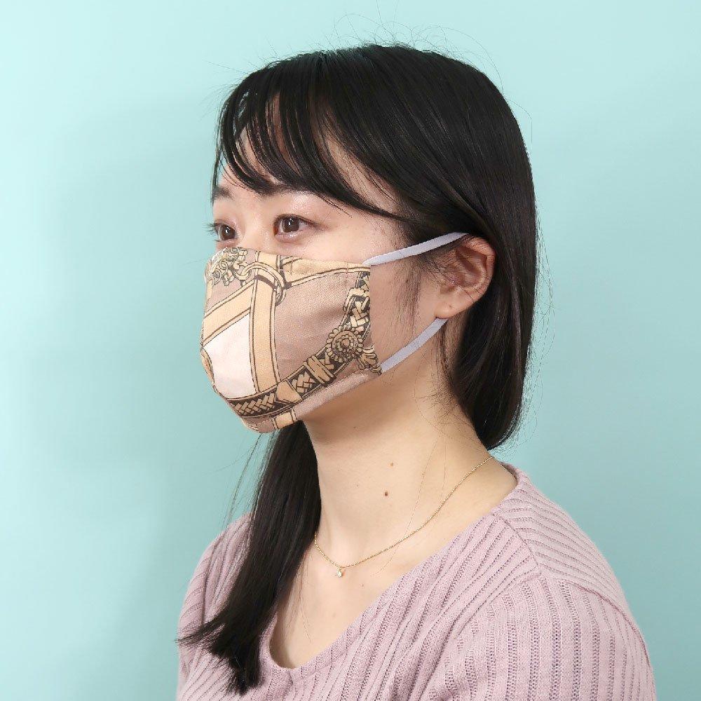 お肌にやさしいプリントマスク(U20-091) IJ スカーフ柄 Marcaオリジナル