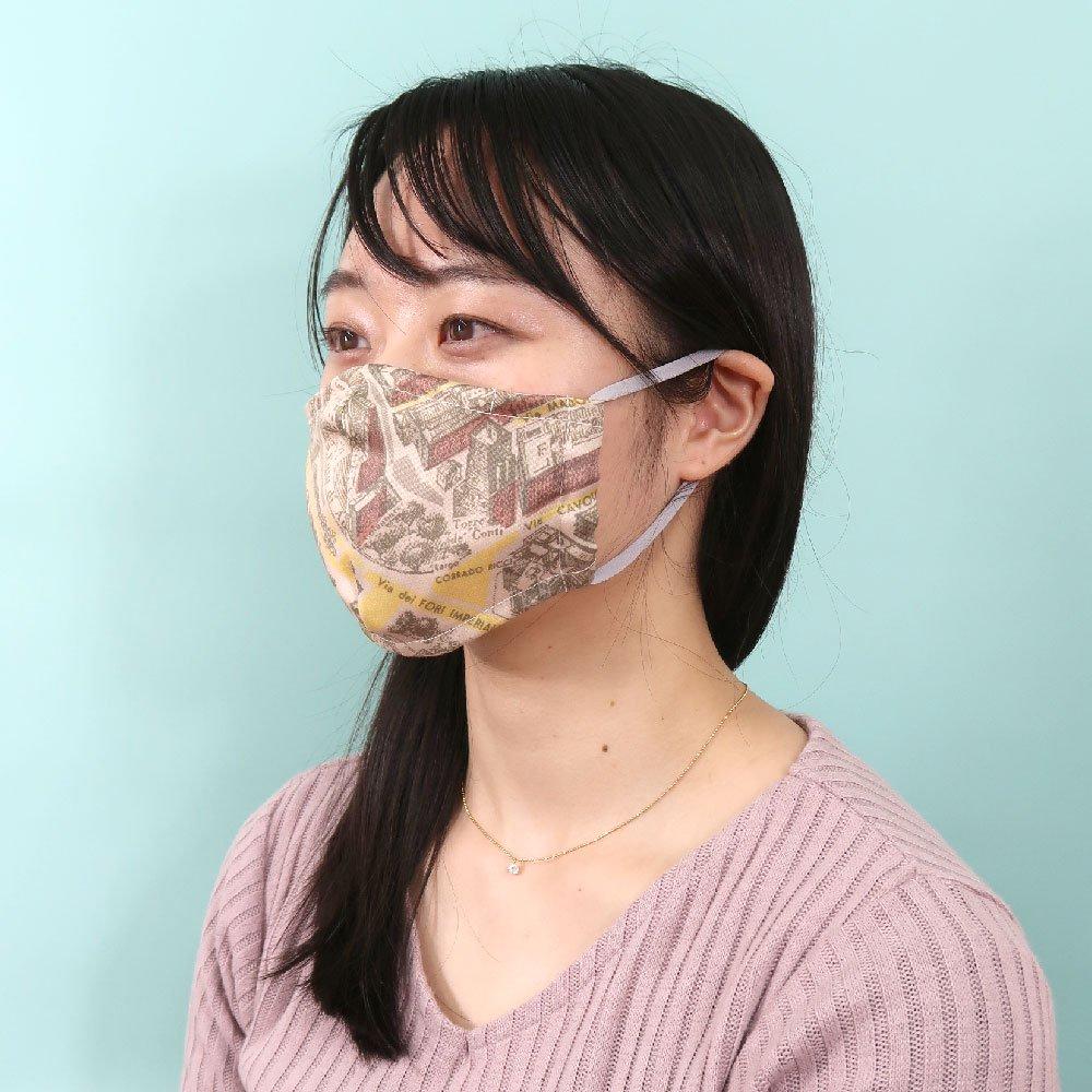 お肌にやさしいプリントマスク(U20-091) IJ スカーフ柄 Marcaオリジナルの画像7