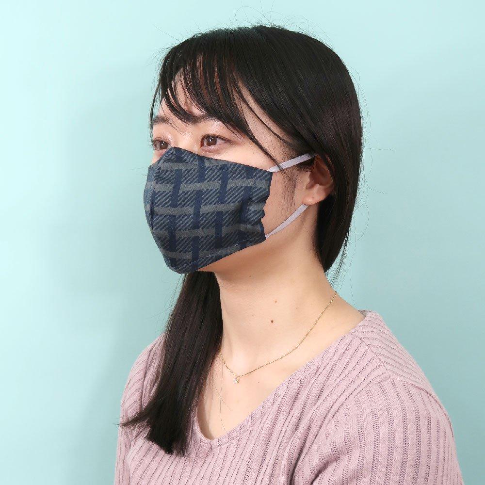 お肌にやさしいプリントマスク(U20-091) KL シンプル柄 Marcaオリジナルの画像3
