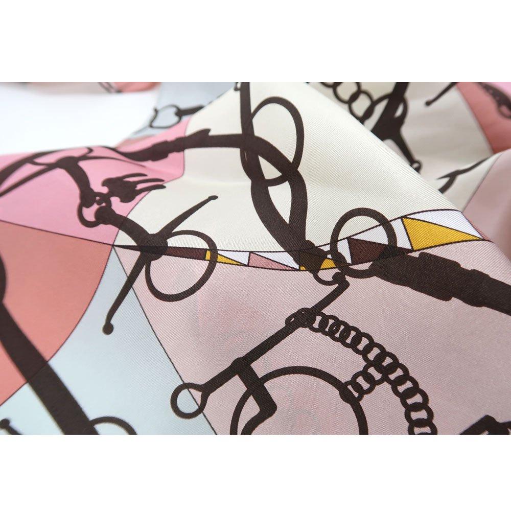 ジオメトリック・ビット(NGO-070) Marcaオリジナル 大判 シルクツイル 剣先スカーフの画像11