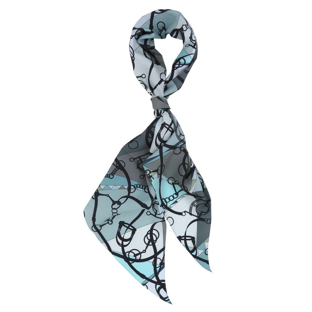 ジオメトリック・ビット(NGO-070) Marcaオリジナル 大判 シルクツイル 剣先スカーフの画像2