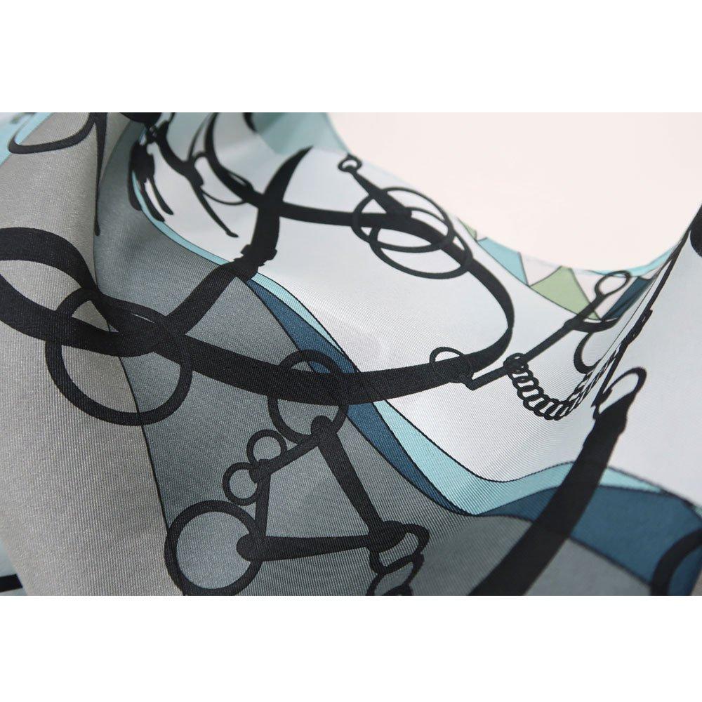 ジオメトリック・ビット(NGO-070) Marcaオリジナル 大判 シルクツイル 剣先スカーフの画像4