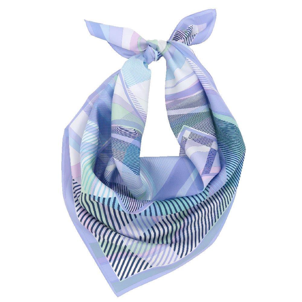 幾何チェックミックス(CGF-157) Marcaオリジナル 大判 シルクツイル スカーフの画像1