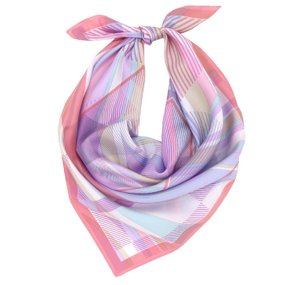 幾何チェックミックス(CGF-157) Marcaオリジナル 大判 シルクツイル スカーフの画像11