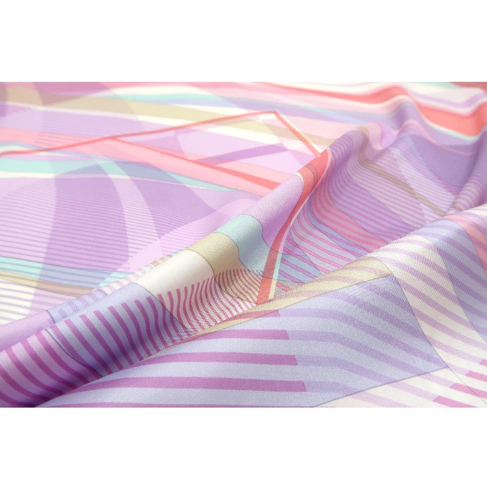 幾何チェックミックス(CGF-157) Marcaオリジナル 大判 シルクツイル スカーフの画像12