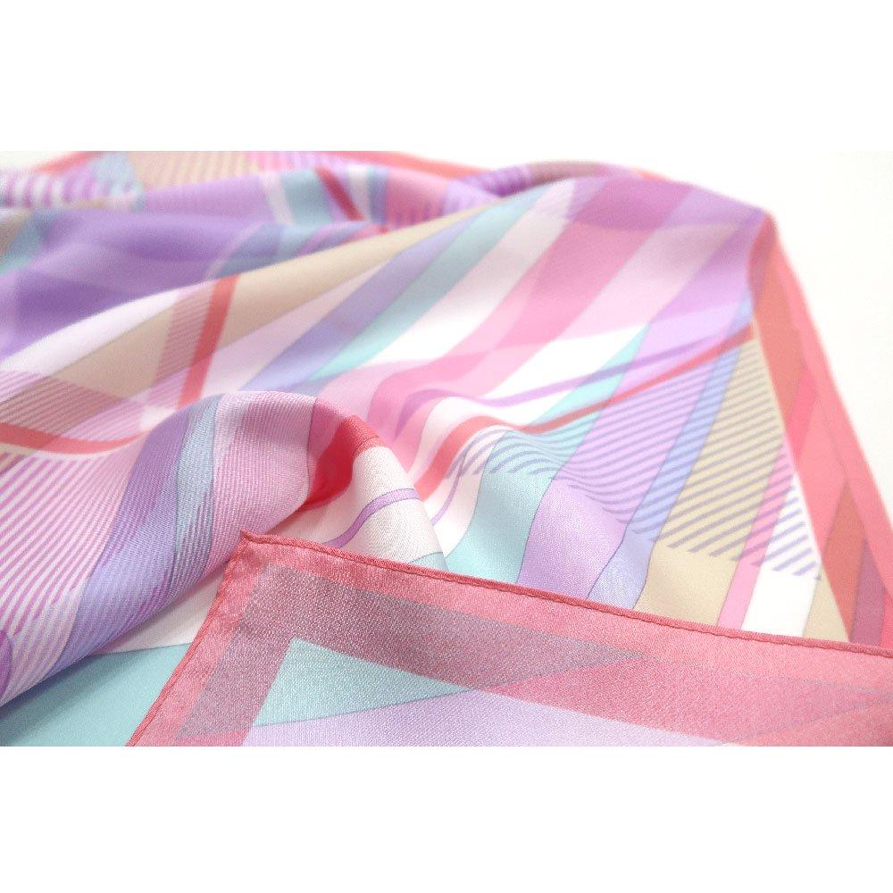 幾何チェックミックス(CGF-157) Marcaオリジナル 大判 シルクツイル スカーフの画像13