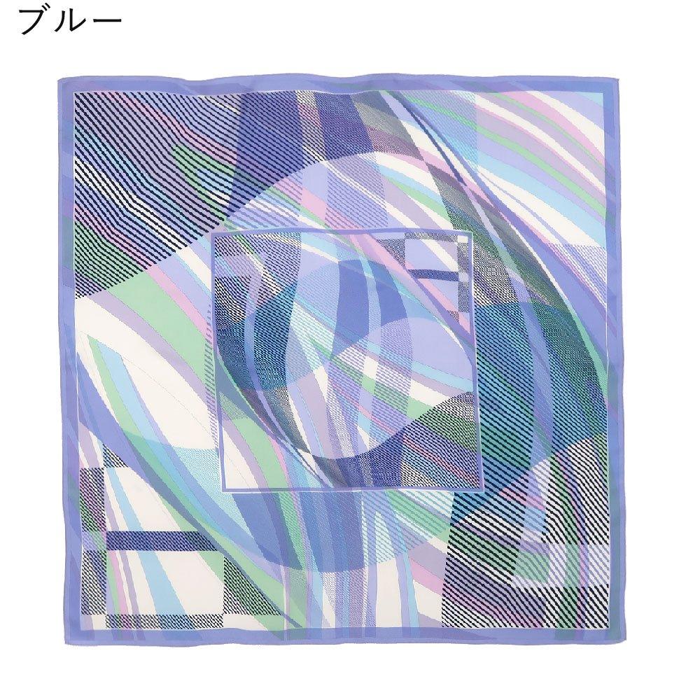 幾何チェックミックス(CGF-157) Marcaオリジナル 大判 シルクツイル スカーフの画像2