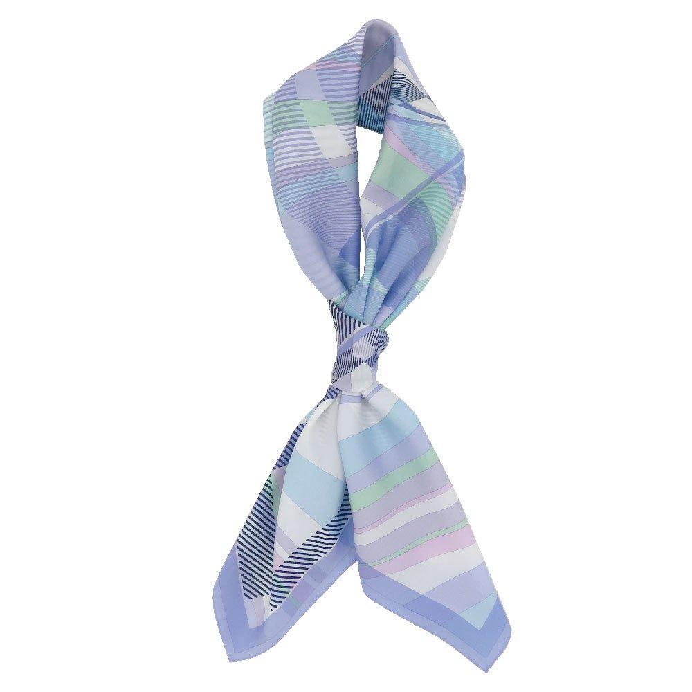 幾何チェックミックス(CGF-157) Marcaオリジナル 大判 シルクツイル スカーフの画像4