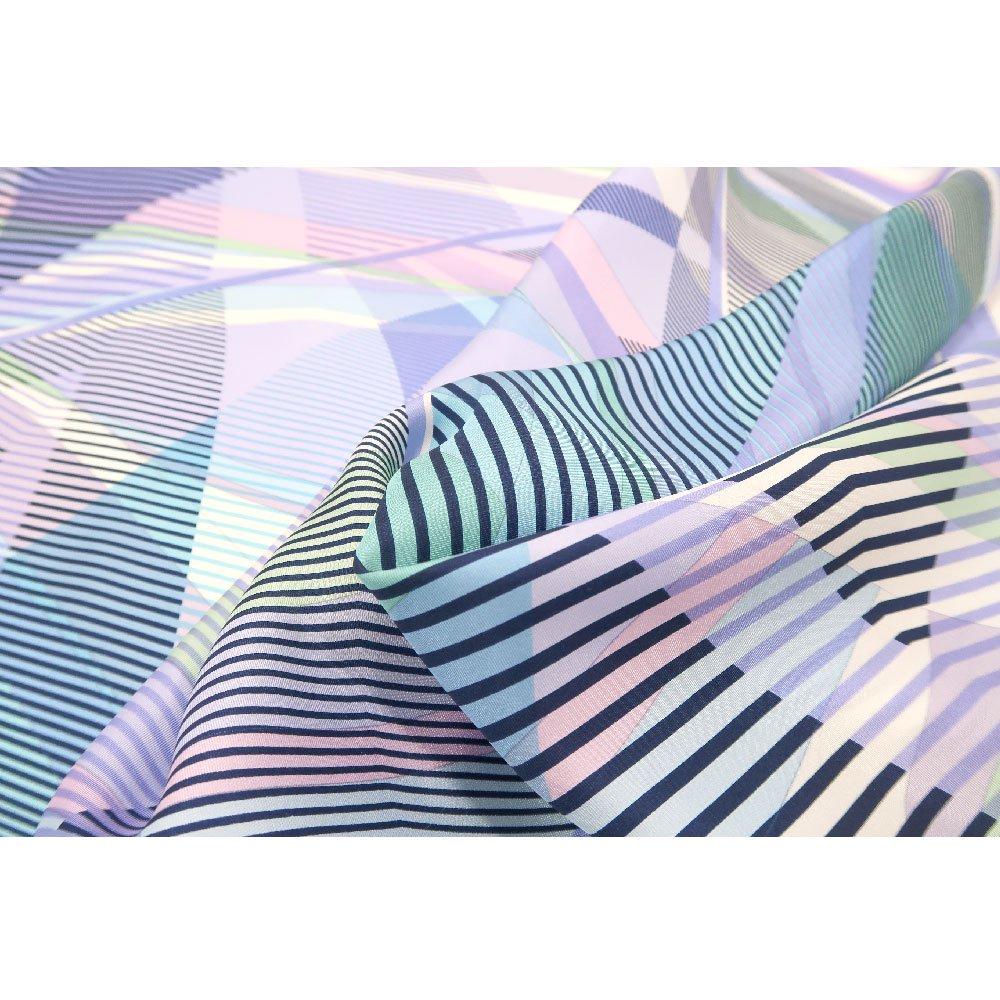 幾何チェックミックス(CGF-157) Marcaオリジナル 大判 シルクツイル スカーフの画像7