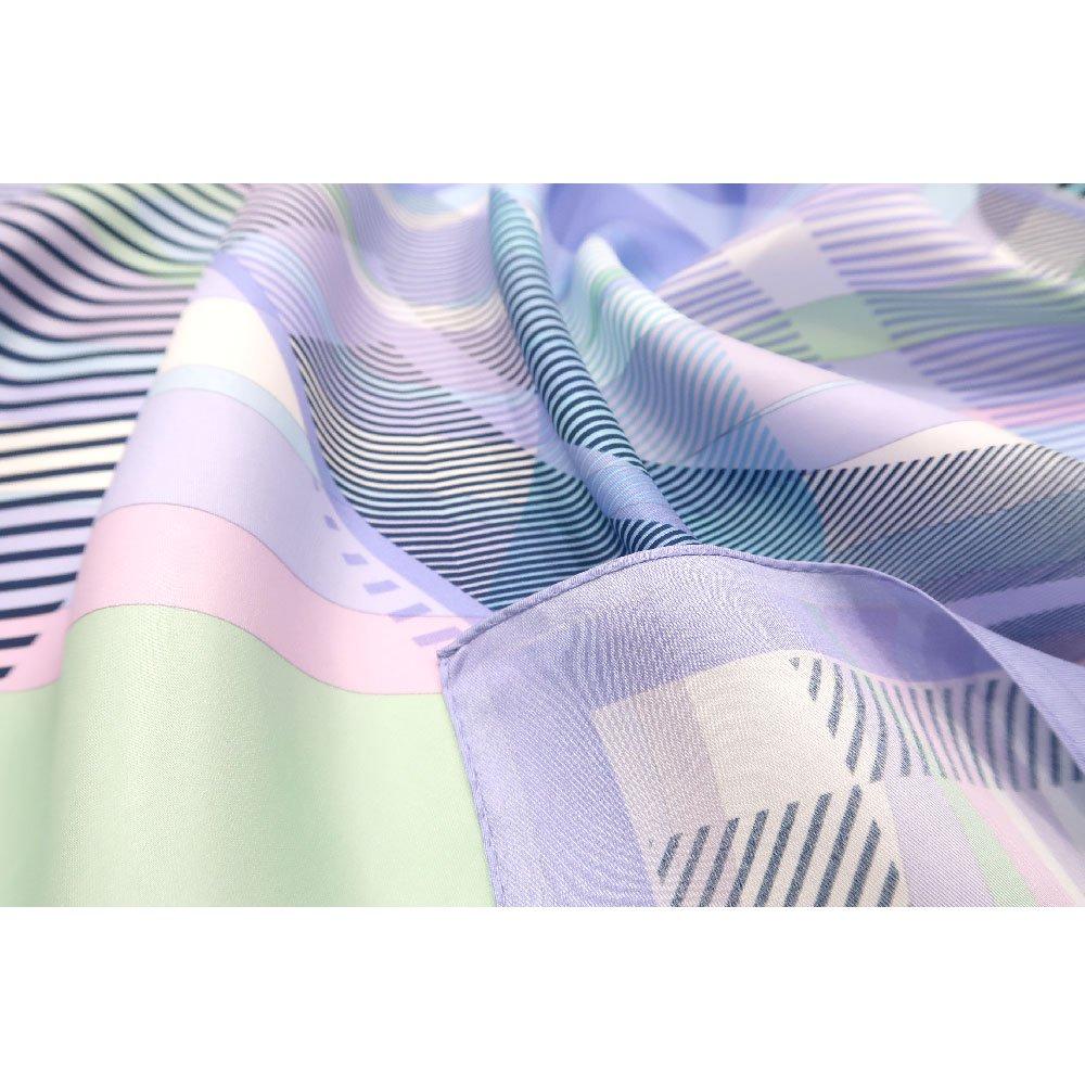 幾何チェックミックス(CGF-157) Marcaオリジナル 大判 シルクツイル スカーフの画像8