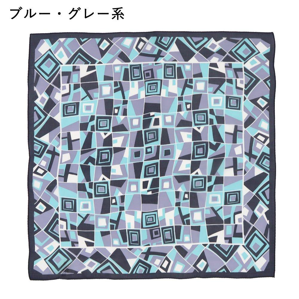 タイルブロック(BGA-192) Marcaオリジナル 小判 シルクローン スカーフの画像3