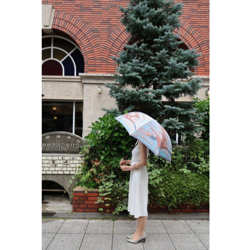 <img class='new_mark_img1' src='https://img.shop-pro.jp/img/new/icons1.gif' style='border:none;display:inline;margin:0px;padding:0px;width:auto;' />Umbrella of Yokohama 晴雨兼用傘 (ポーハタン号 小柄) 伝統横濱スカーフ 傘の画像11
