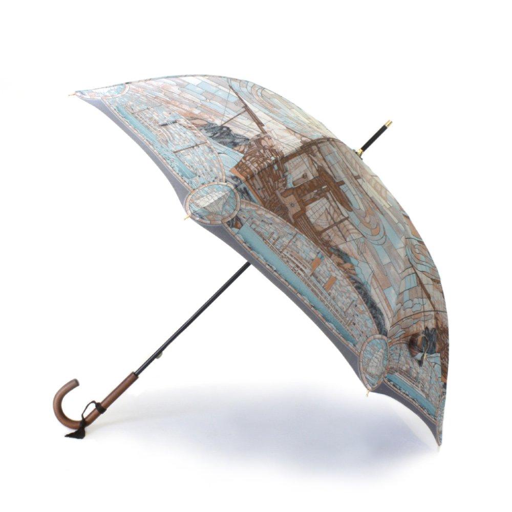 Umbrella of Yokohama 晴雨兼用傘 (ポーハタン号 小柄) 伝統横濱スカーフ 傘