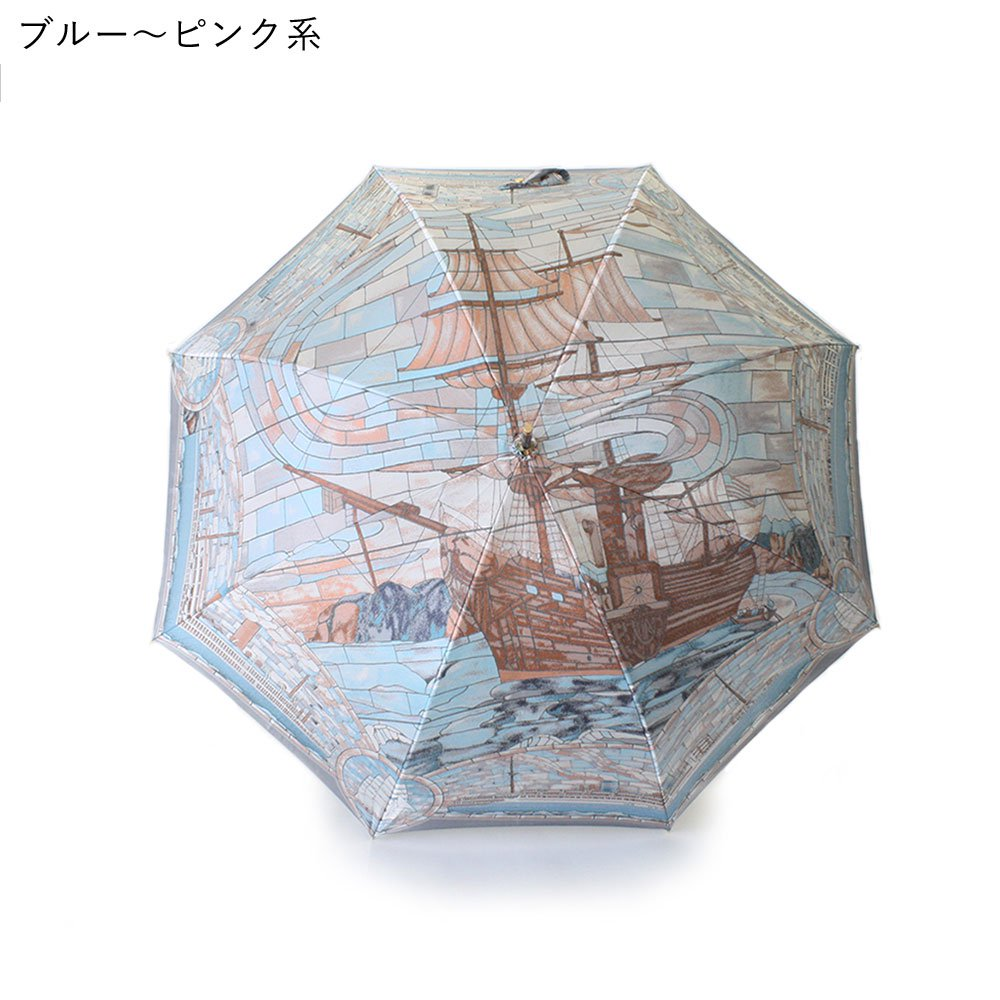 <img class='new_mark_img1' src='https://img.shop-pro.jp/img/new/icons1.gif' style='border:none;display:inline;margin:0px;padding:0px;width:auto;' />Umbrella of Yokohama 晴雨兼用傘 (ポーハタン号 大柄) 伝統横濱スカーフ 傘の画像1