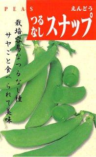 スナップエンドウの種【つるなしスナップ】〔固定種〕 ※無消毒