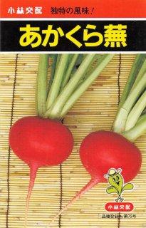 赤カブの種【あかくらカブ】〔F1〕 ※無消毒